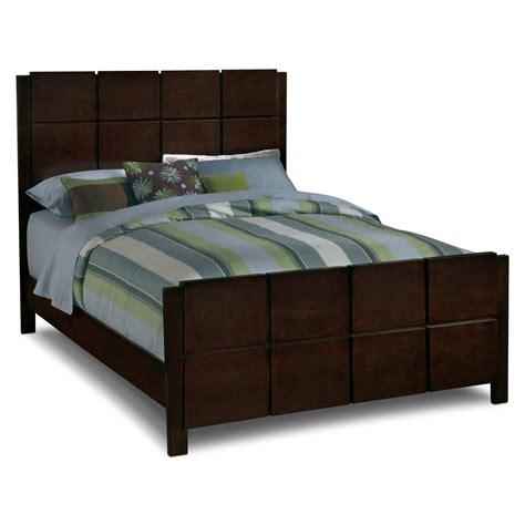 Mosaic Queen Bed  Dark Brown  Value City Furniture