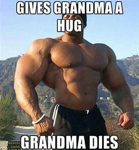 What Happens When a Bodybuilder Gives Grandma a Hug?