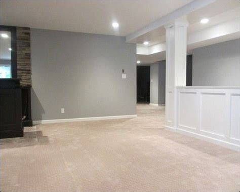 basement color ideas basement ideas basement ideas interior design i like the half wall we need this to keep dogs