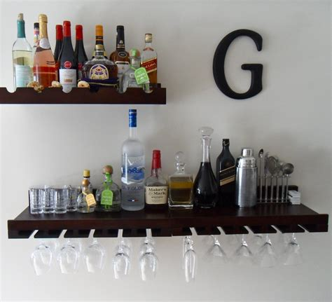 Bar With Shelves by Space Saving Wall Bar