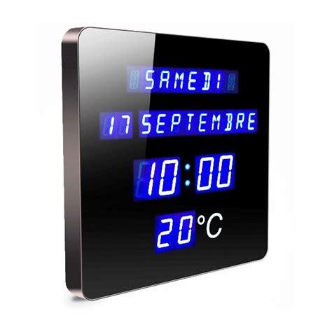 carre cuisine horloge calendrier digitale