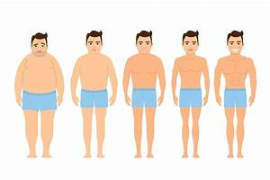 man weight loss vector - The Muscle Principle
