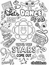 Colouring Dancing Dance Cbc Coloring Sing Sheet Activities Shoes Ballet Let Dancer Dot Attention Facts Explore Awesome Imagination Rainbows Microphones sketch template