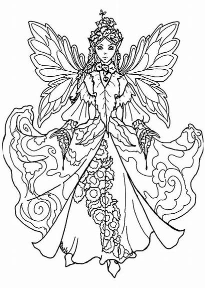 Fairy Coloring Pages Adult Adults