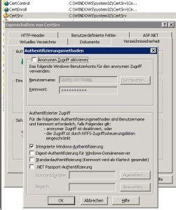 microsoft zertifikatdienste vorlage webserver fuer