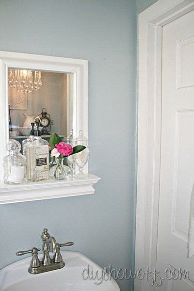 smoke paint color powder room before and after makeover benjamin