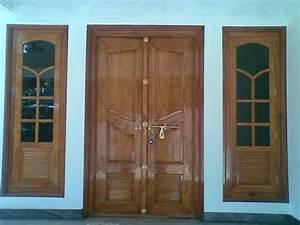 Kerala Model Double Door Wooden design - YouTube