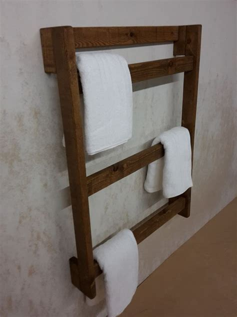 Handtuchhalter Leiter Holz by 17 Best Ideas About Wooden Towel Rail On