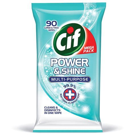 Cif Power & Shine Multi Purpose Wipes 90pk   Cleaning