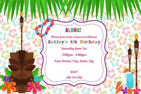 luau invitations templates free 20 luau birthday invitations designs birthday invitations templates
