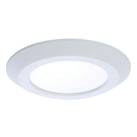 led surface mount disk light halo sld 5 in and 6 in matte white integrated led low