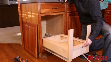 kitchen cabinet garbage drawer diy pull out trash can fixthisbuildthat 5419