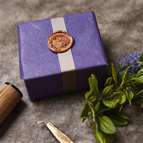 monogram  wreath wax seal stamp  sophia victoria joy notonthehighstreetcom