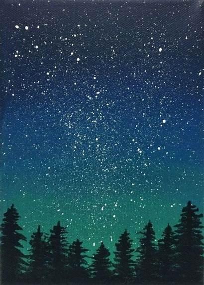 Painting Galaxie Sky Night Gemerkt Picstagram Von