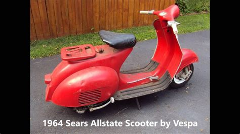 1964 Sears Allstate Scooter by Vespa - 788.94331 - YouTube