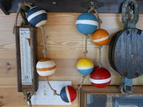 nautical buoys   rope nautical decor  coastal