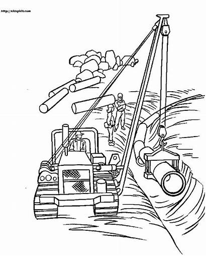 Coloring Construction Equipment Pages Vehicles Printable Heavy