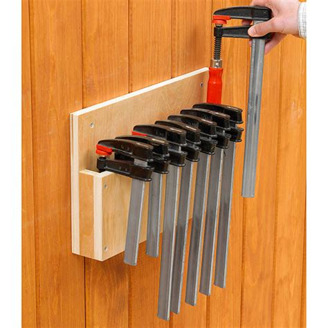 easy store clamp rack woodworking plan  wood magazine