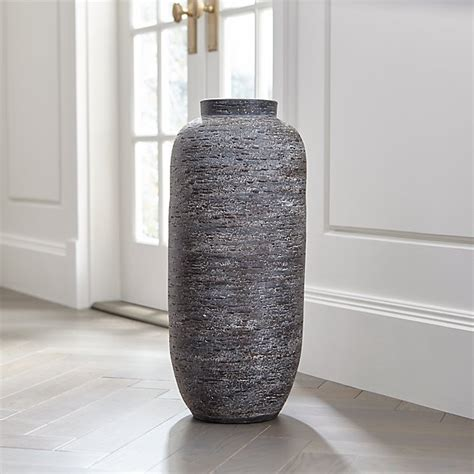 Timber Grey Floor Vase + Reviews   Crate and Barrel