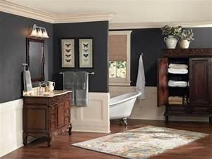 Meuble Salle De Bain Vintage : peinture salle de bain 2016 2017 77 photos qui vont vous faire craquer ~ Teatrodelosmanantiales.com Idées de Décoration