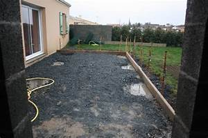 faire une dalle de beton pour garage 7 coffrage de la With faire une dalle beton garage