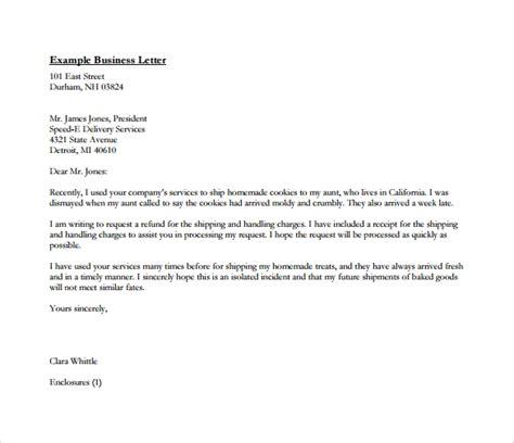 sample business letters format   sample