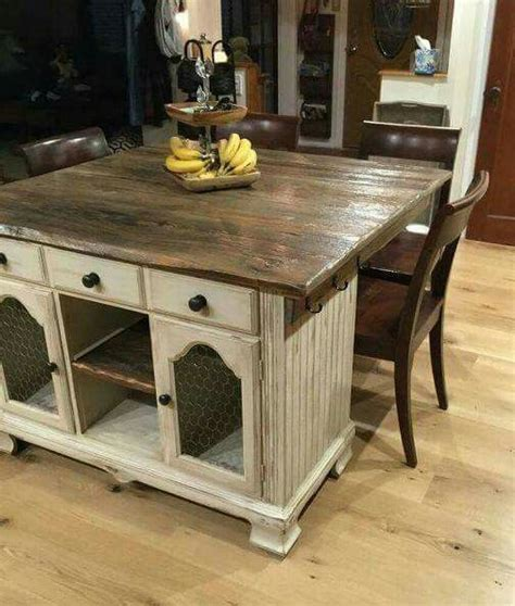 Kitchen Side Buffet by How To Turn Buffet To Rustic Kitchen Island Diy Kitchen