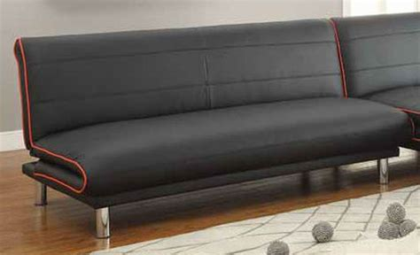 black leather sofa futon coaster 500776 black leather sofa bed steal a sofa
