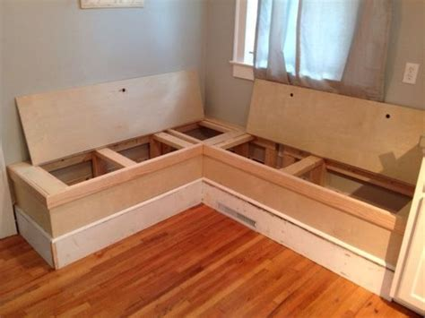 kitchen storage bench corner storage bench plans woodworking projects plans 3120