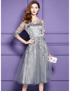 silver lace midi party wedding guest dress for fall With silver dress for wedding guest