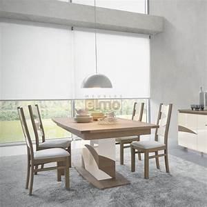 Pied De Table A Manger : table tonneau pied central bois et laque plateau bois ou ceramique ~ Teatrodelosmanantiales.com Idées de Décoration