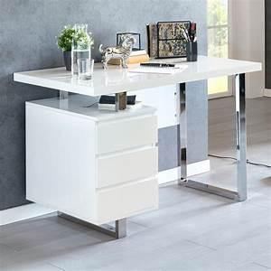 Schreibtisch Dunkles Holz : finebuy schreibtisch 115x60x76 cm wei hochglanz b rotisch computertisch tisch ~ Yasmunasinghe.com Haus und Dekorationen