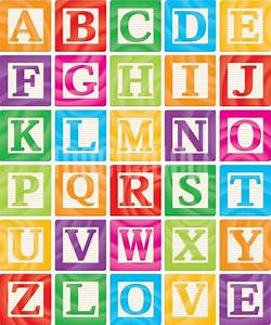 alphabet building blocks wall murals wall decals With building letter blocks