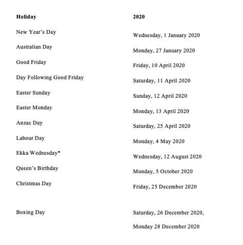 qld public holidays calendar holiday queensland