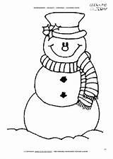 Coloring Pages Preschool Snowman Scarf Printable Getdrawings Getcolorings Colorings sketch template
