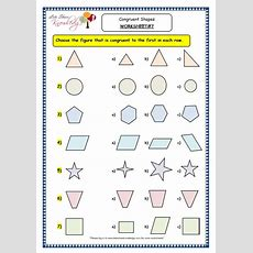 Grade 3 Maths Worksheets (145 Geometry Congruent Shapes)  Lets Share Knowledge