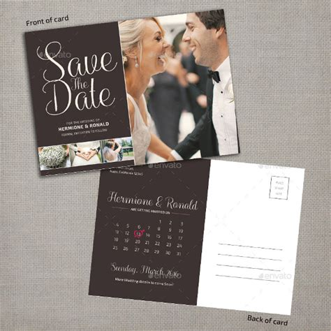 save  date postcard template   psd vector eps