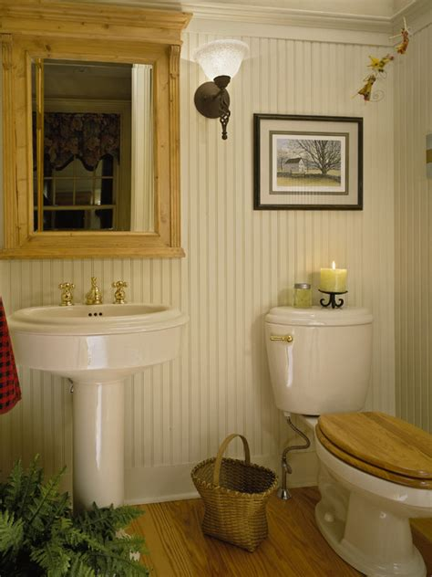 Beadboard Wainscoting Bathroom Ideas by Beadboard Powder Room Design Ideas Pictures Remodel And
