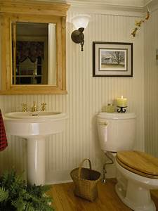 Beadboard powder room design ideas pictures remodel and for Bead board in bathroom