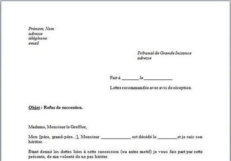 modele de lettre pour renonciation de succession t 233 l 233 charger mod 232 le de lettre refus de succession pour
