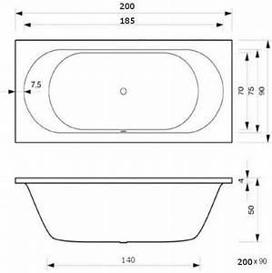 Badewanne 200 X 90 : badewanne 200 x 90 x 50 cm caro rechteck f r 2 personen t r design ~ Sanjose-hotels-ca.com Haus und Dekorationen