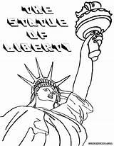 Liberty Statue Coloring Sheet Colorings sketch template