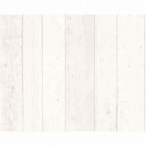 Planche De Bois Blanc : papier peint vinyle sur intiss planche bois blanc larg m leroy merlin d co murs ~ Voncanada.com Idées de Décoration
