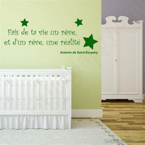phrase chambre bébé stickers déco mur peint citation célèbre antoine de