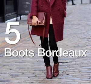 Tendance Chaussures Automne Hiver 2016 : boots couleur bordeaux tendance automne hiver 2015 2016 ~ Melissatoandfro.com Idées de Décoration
