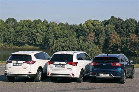 Kia Outlander by Hybrid Suvs Kia Niro Vs Mitsubishi Outlander Und Toyota
