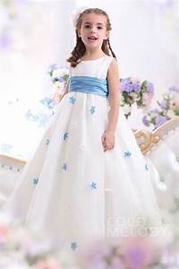 Cocomelody A Line Tank Top Floor Length Organza Girls