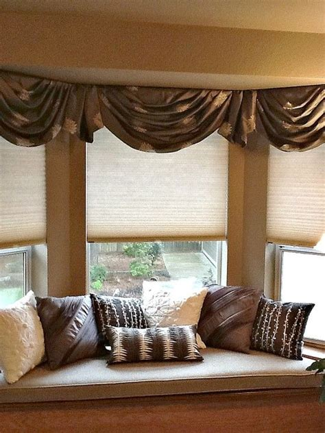 swag curtain ideas for living room shades for bay windows to beautify your living room