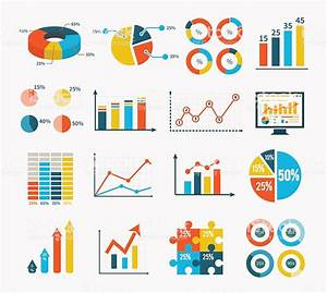 Infographic Set Graph And Charts Diagrams Stock Vector Art