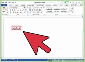 4 ways to insert equations in microsoft word wikihow for Como hacer un invoice en la computadora
